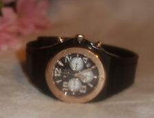 VIP TIME ITALY Unisex Chronograph Watch-BLACK ROSE GOLD New