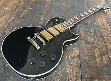Epiphone / Gibson Les Paul Custom Black Beauty Electric Guitar Fully Set Up