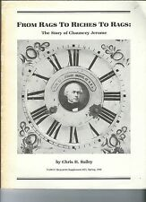 MF-053 - From Rags to Riches Story of Chauncey Jerome, NAWCC Bulletin 1986 Vntg