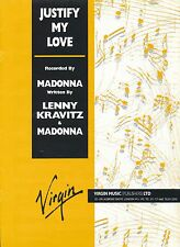 Justify My Love - Madonna - 1990 Sheet Music