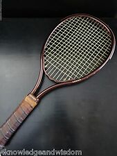 Leach Swinger Racket Racquetball Leather Grip Vintage Brown w/ Case Made in USA