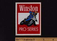 WINSTON PRO SERIES Vintage STICKER 1970's AMA Dirt Flat Track AHRMA Motorcycle