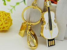 Fancy Guitar Model Pen drive USB 2.0 Flash Driver Gold Designer Pen drive 32 GB