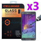 3-Pack Premium Real Tempered Glass Screen Protector for SAMSUNG Galaxy Note 4