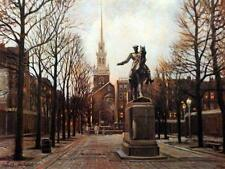 "Tony Eubanks ""Old North Church"" Paul Revere Statue Signed Print  24""W x 18""H"