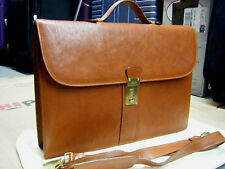 vintage BALLY SOFT  LEATHER BRIEFCASE BAG WITH STRAP 16X11 MADE IN ITALY
