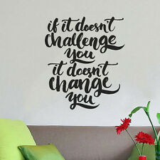 Wall Quote Motivational Home Wall Decor Vinyl Sticker Decal Mural Art Inspire