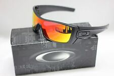 NEW OAKLEY BATWOLF SUNGLASSES | MATTE BLACK INK W/ RUBY IRIDIUM LENS | 9101-38