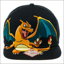 Nintendo Pokemon Charizard Snapback Baseball Cap Hat Black OFFICIAL LICENSED New