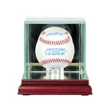 New Glass Baseball Display Case UV Cherry Molding FREE SHIPPING Made in USA