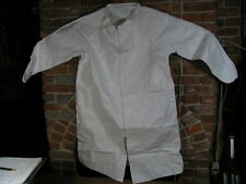 (Lot of 3) Size 2X Large TYVEK IsoClean Lab/Shop Coat,Frock. White zip front.