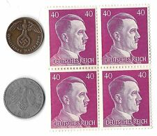 Rare Old Wwii Nazi Germany Swastika Coin Stamp Hitler War Collection 6 Lot uk us