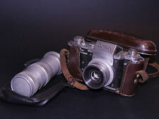 RECTAFLEX 1300 35MM SLR CAMERA WITH ZEISS AND FILOTECNICA SALMOIRAGHI LENSES