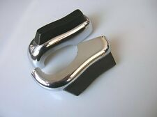 ORIG VW CHROME BUMPER GUARDS HORN RUBBER BUG BEETLE COX KÄFER OVAL PEROHAUS GHE