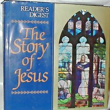 1993 The Story of Jesus IN COLOR  hcdj Reader's Digest Large Tabletop Book + adv