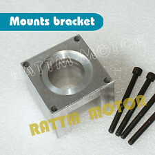 New Nema23 Stepper Motor Aluminum Mount Bracket Clamp Block Cutter+4Pcs Screws