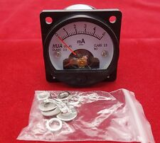 1PC DC 0-5MA Analog Ammeter Panel AMP Current Meter SO45 Cutout 45mm direct wire