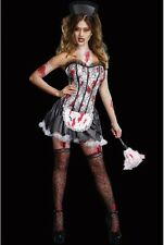 NEW WOMENS LADIES SEXY HALLOWEEN FRENCH MAID COSTUME FANCY DRESS PARTY OUTFIT
