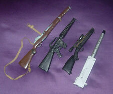 HASBRO  GI JOE  ASSORTED GUNS  M-16  M-1 RIFLES  1960'S  1970'S