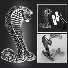 Sliver Snake Cobra 3D Sticker Emblem Badge Decal Logo for ford Shelby Mustang