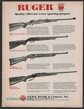 1971 RUGER Model 77 & Number One Rifle 10/22 & 44 Magnum Carbine AD