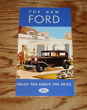 1931 Ford Model A Fold Out Sales Brochure 31
