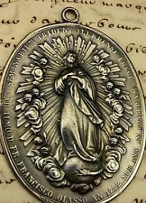 Bishops Antique DATED 1722 Immaculate Conception Manila Cathedral Bronze Medal