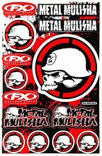 Metal Mulisha Rockstar Energy Stickers MotoGP Bike Motorcycle Skull Vinyl DecaIs