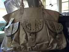NEW Old Trend, Free People Brand Beige Studded Tulip Dip-Dye Leather Tote $278