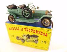 Matchbox Models of Yesteryear n° Y15 Rolls-Royce Silver Ghost 1907 neuf en boite