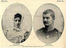 Draga Maschin & Alexander I. v.Serbien Historische Aufnahmen von 1900