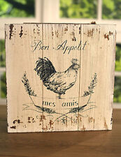 Wall Art Wooden Country Chook Bon Appetit Sign Country Home Decor Gift 30cms