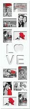 Love MDF Multi-Aperture Picture/Photo frame, White, 12x (10x15cm/6x4)