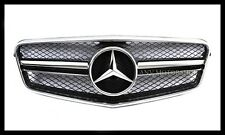 Chrome Black Front Hood Grille Grill For Mercedes Benz W212 E63 E350 E500 E550