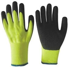 LATEX COATED PALM ATLAS TYPE GLOVES YELLOW WITH BLACK LATEX PALM SMALL G300S