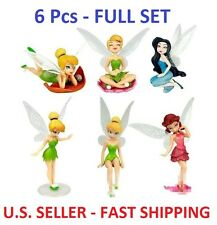 6 Pcs - Disney Tinkerbell Fairies CAKE TOPPER Figure Set, Birthday Party Favor