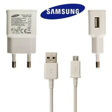 Véritable Samsung Galaxy S3 S4 S5 Note 3 ue 2 pin voyage chargeur + USB Blanc 1 amp