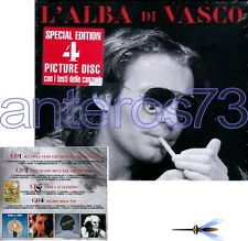 "VASCO ROSSI ""L'ALBA DI VASCO"" RARO BOX 4 CD PICTURE DISC - SIGILLATO"
