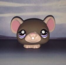 Littlest Pet Shop Collector Pet Dark Brown And Tan Mouse With Purple Eyes #1808