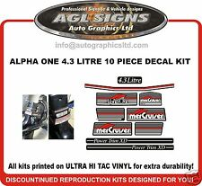 Mercury Alpha One 4.3 Litre 10 piece Outdrive Decal Kit   Mercruiser