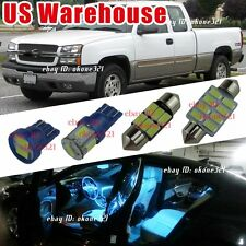 17-pc Aqua Ice Blue Car LED Light Interior Package Kit For 99-06 Chevy Silverado