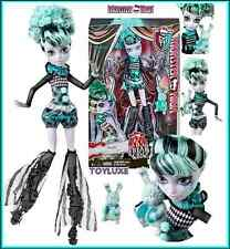 Monster High FREAK DU CHIC Twyla Doll Clown STILT WALKER Pet Dust Bunny DUSTIN !