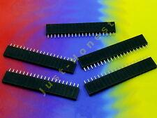 Stk. 5 x BUCHSENLEISTE / HEADER 20 polig 2.54mm Arduino bauweise / style #A802