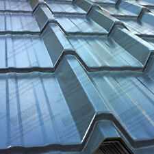 METAL ROOFING SHEETS - TILE EFFECT PVC COATED STEEL ROOF SHEETS - All Colours