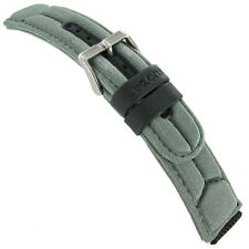 18mm Tec One Grey and Black Sports Nylon With Rubber Straps Watch Band 5132