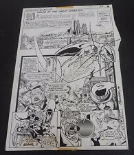 SIGNED! MARSHALL ROGERS Terry Austin Full Page Framed! DC Weird War Tales #51