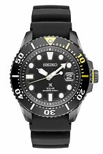 Mens Seiko Solar Divers Padi Stainless Steel Blue Dial Date Prospex Watch SNE435