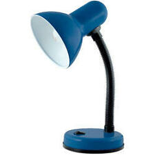 Lloytron L958 Mains Table Desk Bedroom Lamp Light Flexi Neck Navy Blue E14 35W