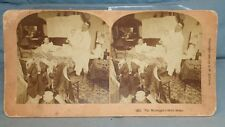 "Antique Stereoview Card B. W. Kilburn ""Tis Midnight's Holy Hour."" 1892"