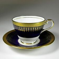 Aynsley Footed Cup & Saucer Hertford Cobalt Gold Gilt 7081- Several available